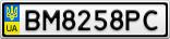 Номерной знак - BM8258PC