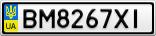 Номерной знак - BM8267XI