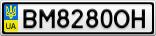 Номерной знак - BM8280OH
