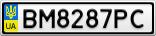 Номерной знак - BM8287PC