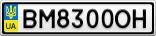 Номерной знак - BM8300OH