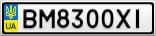Номерной знак - BM8300XI