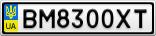 Номерной знак - BM8300XT