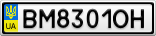 Номерной знак - BM8301OH