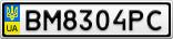 Номерной знак - BM8304PC