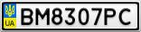 Номерной знак - BM8307PC