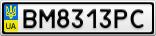 Номерной знак - BM8313PC