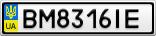 Номерной знак - BM8316IE