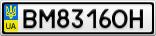 Номерной знак - BM8316OH
