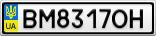 Номерной знак - BM8317OH