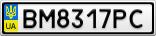 Номерной знак - BM8317PC