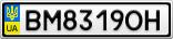 Номерной знак - BM8319OH