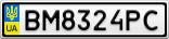 Номерной знак - BM8324PC