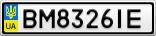 Номерной знак - BM8326IE