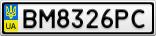 Номерной знак - BM8326PC