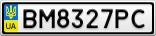 Номерной знак - BM8327PC