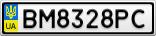 Номерной знак - BM8328PC
