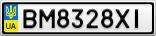 Номерной знак - BM8328XI