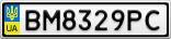Номерной знак - BM8329PC