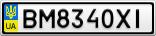 Номерной знак - BM8340XI