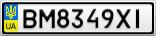 Номерной знак - BM8349XI