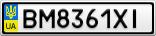 Номерной знак - BM8361XI
