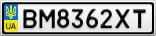 Номерной знак - BM8362XT