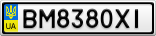Номерной знак - BM8380XI