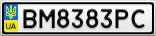 Номерной знак - BM8383PC