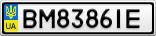 Номерной знак - BM8386IE