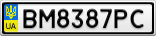 Номерной знак - BM8387PC