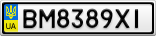 Номерной знак - BM8389XI
