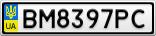 Номерной знак - BM8397PC