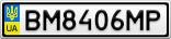 Номерной знак - BM8406MP