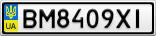 Номерной знак - BM8409XI