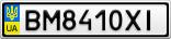 Номерной знак - BM8410XI