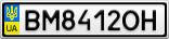 Номерной знак - BM8412OH