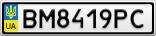 Номерной знак - BM8419PC