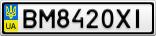 Номерной знак - BM8420XI