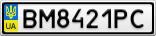 Номерной знак - BM8421PC