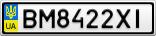 Номерной знак - BM8422XI