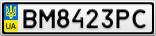 Номерной знак - BM8423PC
