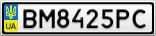 Номерной знак - BM8425PC