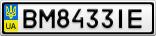 Номерной знак - BM8433IE
