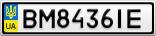 Номерной знак - BM8436IE