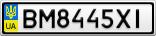 Номерной знак - BM8445XI