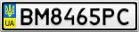 Номерной знак - BM8465PC
