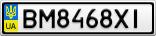 Номерной знак - BM8468XI