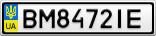 Номерной знак - BM8472IE