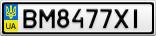Номерной знак - BM8477XI